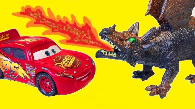 Тачки против Драконов Мультики про Машинки Приключения Молнии Маквина и Мэтра