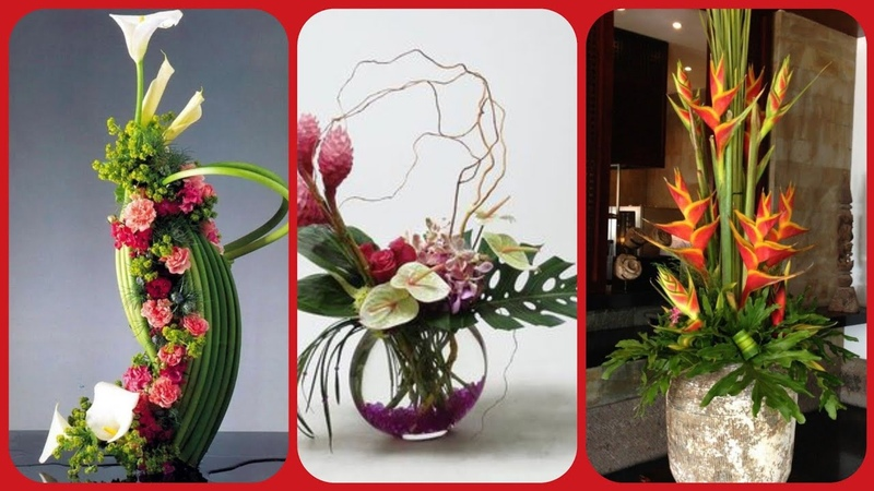 Latest stylish beautiful flower arrangement home decoration collection