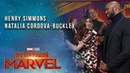 Natalia Cordova-Buckley and Henry Simmons at the Captain Marvel Premiere