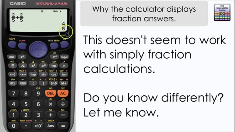 Why you can't get decimal answers straight away, you get a fraction! (Casio Calculator fx-85GT PLUS)