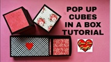Pop Up Cubes In a Box Tutorial Friendship Day Birthday Gift Ideas