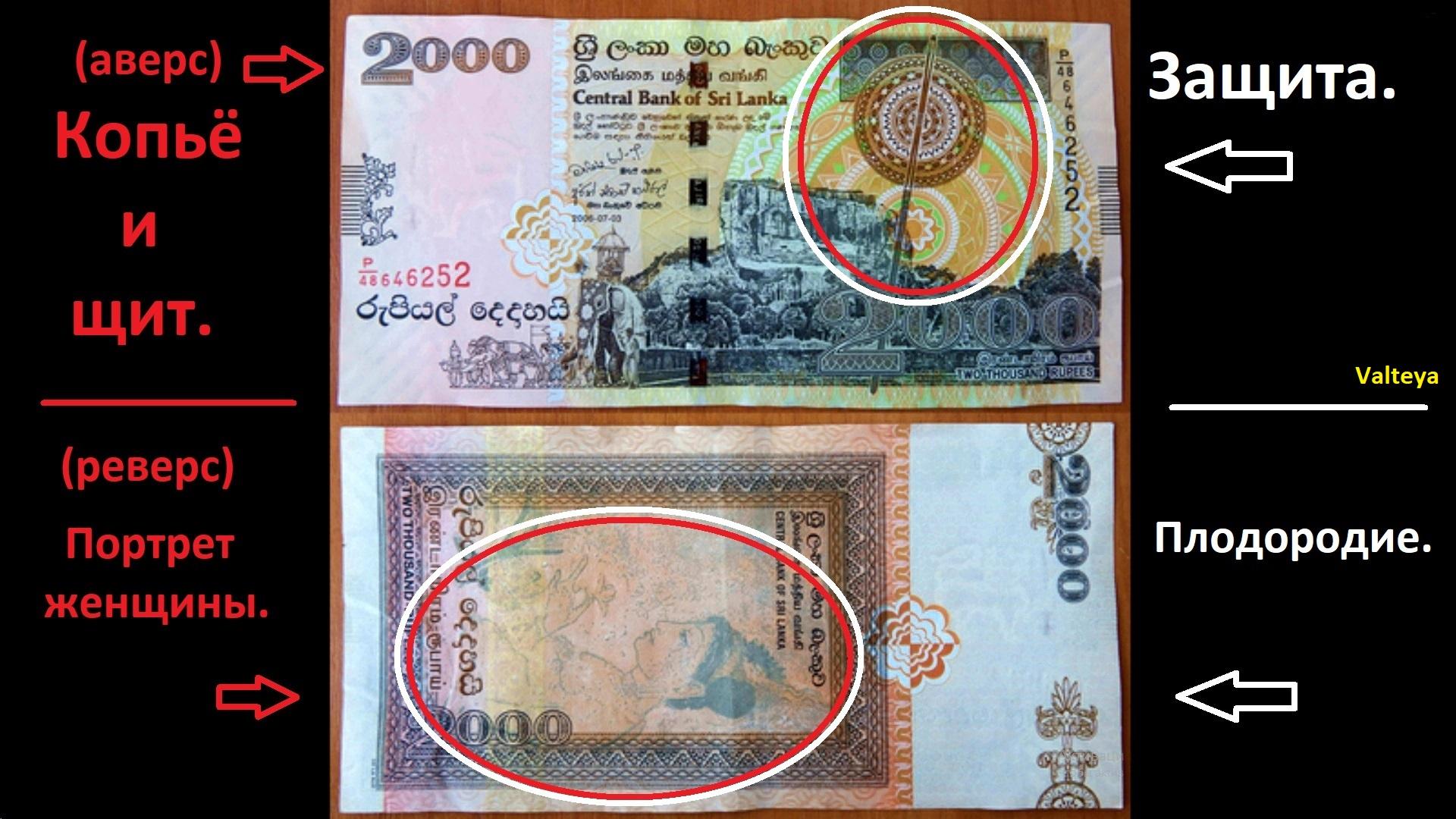 ШРИ-ЛАНКИЙСКАЯ (ЛАНКИЙСКАЯ) РУПИЯ / Деньги Шри Ланки / Деньги мира / Деньги талисманы. DDE2L9fEEKU