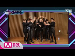 190408 Top in 1st of April, 'Stray Kids' with 'MIROH', Encore Stage! M COUNTDOWN 190404 EP.613 @ Mnet K-POP