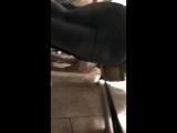 В метро школьница с сочной попкой
