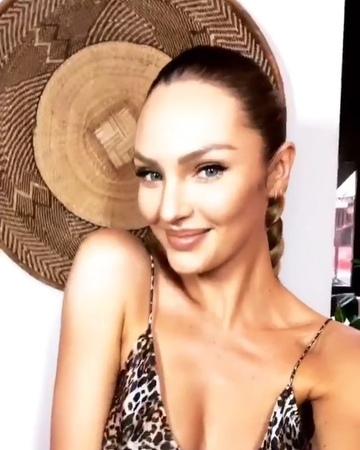 "Models' Stories on Instagram: ""[September 6]: Candice Swanepoel (@angelcandices) getting ready for the Russell James 'Angels' book launch and exhib..."