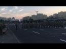 Репетиция праздничного марша на проспекте Машерова