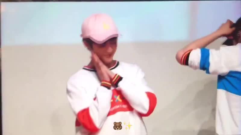 а fan shouted goodbye jalga but Beomgyu heard goodnight jalja his response was so cute