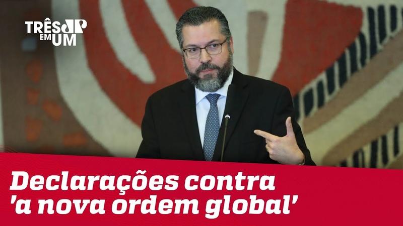 Em seu primeiro discurso, Ernesto Araújo faz declarações contra a nova ordem global