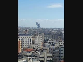 BOMBARDEMENTS DE L'AVIATION SIONISTE SUR DES CIVILS AU NORD DE GAZA LE 26.10.2018