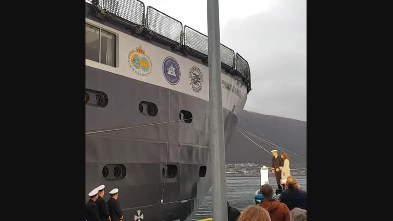 Her Royal Highness Princess Ingrid Alexandra baptized new polar research vessel FF Kronprins Haakon