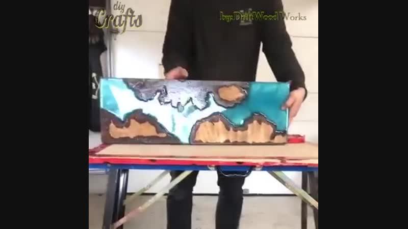 🏂 Доска для скейтборда из эпоксидной смолы