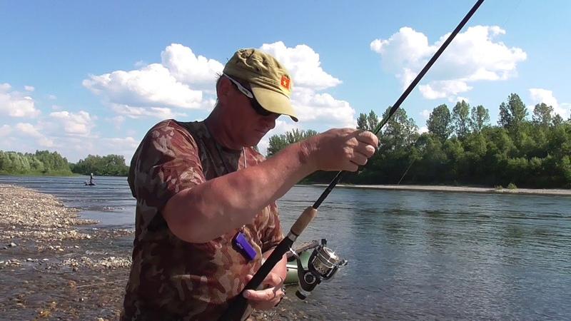 Рыбалка на Томи - тиролька , обкатка - новых мух.