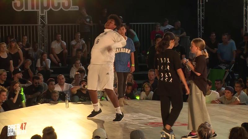 AREA 47 Dance Battle 2018 I KIDS BATTLE QUATERFINAL NINO LIMIT PUFF PUFF VS STEPHA PRINCESS