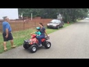 Mason takes mommy for a quad ride
