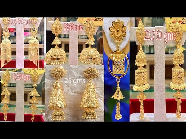 Latest Light Weight Gold Earrings and Jhumkas Designs collection  Today Fashion