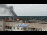 Пожар в трёхэтажном здании в Иванове