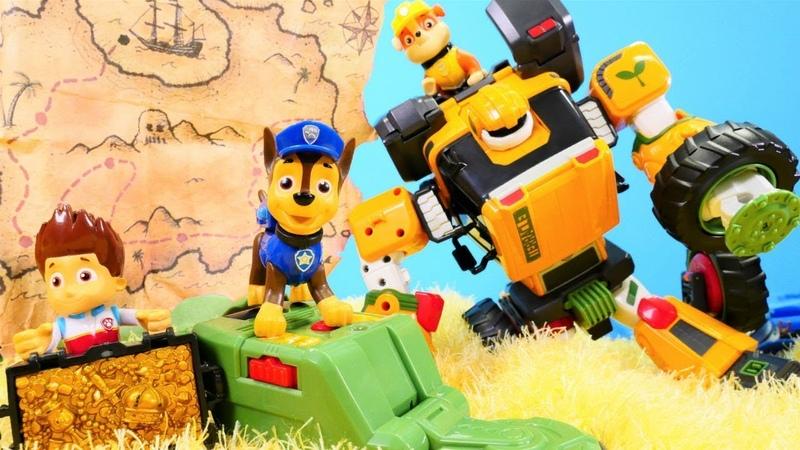 Hazine bulma oyunu! Paw Patrol ve Tobot T oyuncakları!