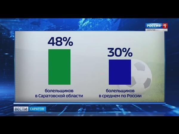 Саратовская область побила рейтинги по количеству футбольных болельщиков