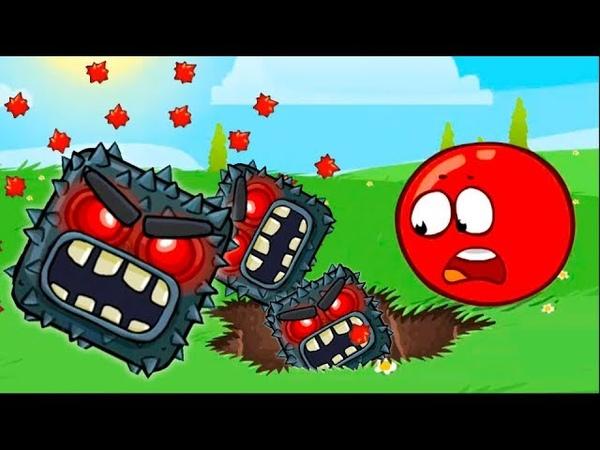 Красный шар 4 подземные ходы мультик игра Новые игровые мультфильмы для детей 2018