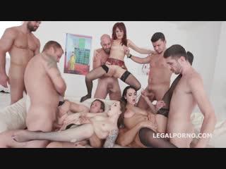 Charlotte cross, dominica phoenix, monika wild, group sex orgy anal porno
