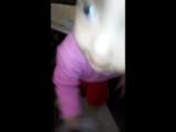Аминочка с котёнком у альдыбаевых