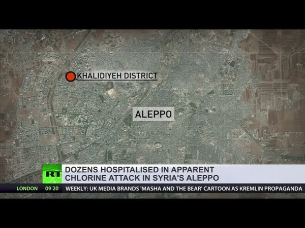 Dozens hospitalized in Syria's Aleppo after militants shell city with poison gas reports