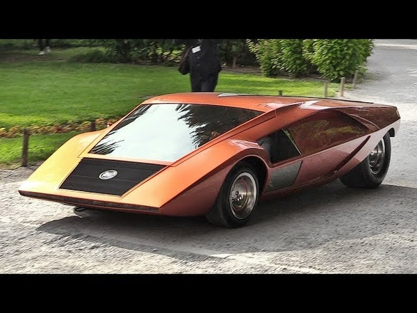 1970 Lancia Stratos Zero: A crazy concept from the Wedge Era - Sound Driving on the Streets!