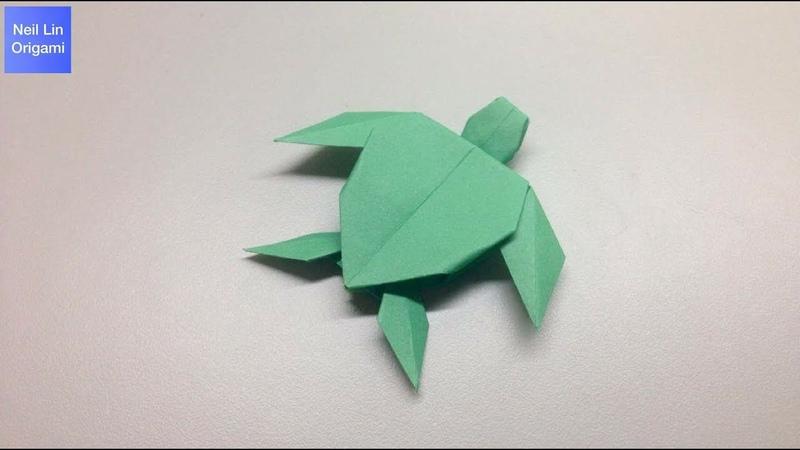 Origami Turtle Tutorial 海龜摺紙教學 Origami-tortuga de papel 折紙海龟 折り紙-亀の折り方