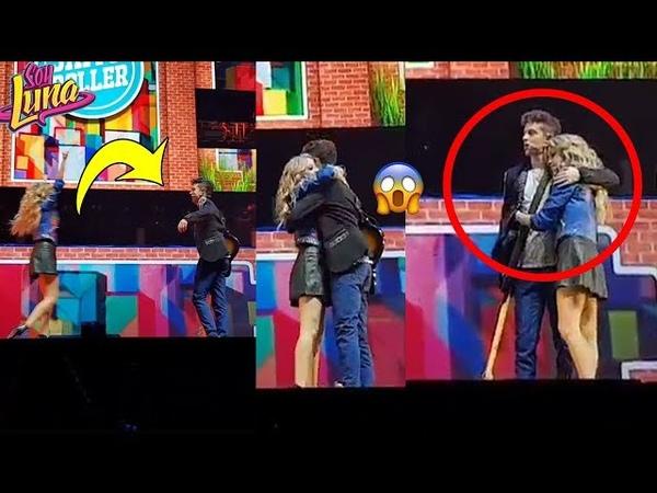 Karol corre como loca por ir a Abrazar solo Ruggero entre todos Lutteo/Ruggarol Soy Luna En Vivo HD