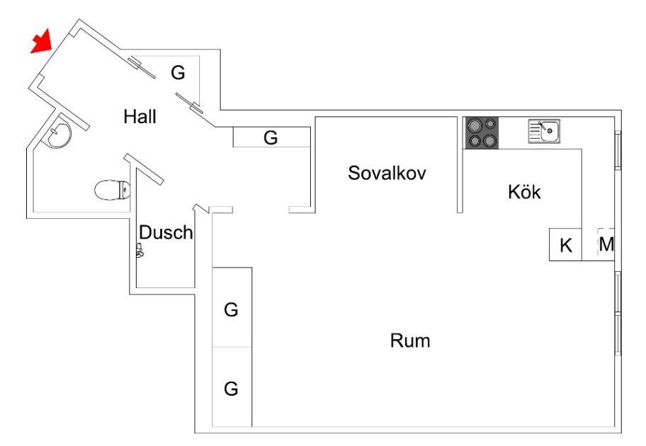 Квартира-студия 27 кв.