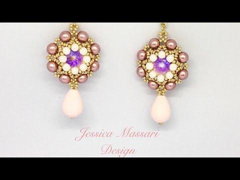 Tutorial Orecchini con perle e Swarovski Lucy earrings