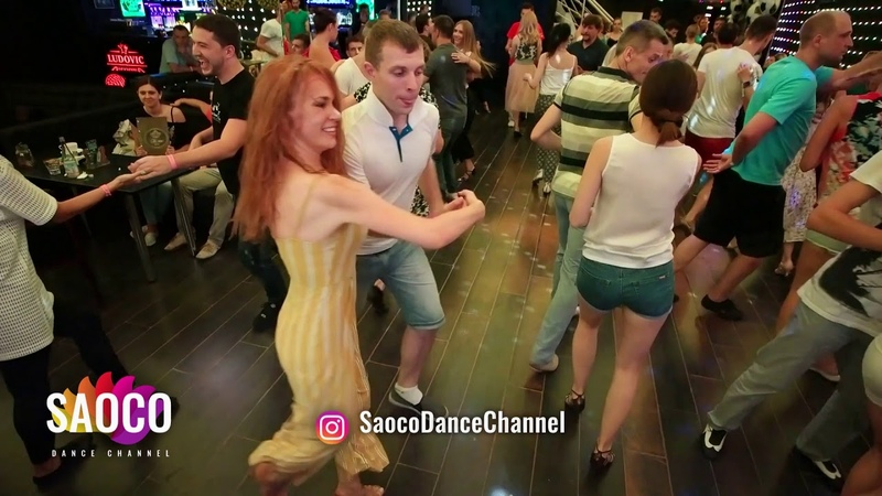 Pavel Voytov and Alita Bru Salsa Dancing in Ludovic at Boogaloo Party Sunday 15 07 2018