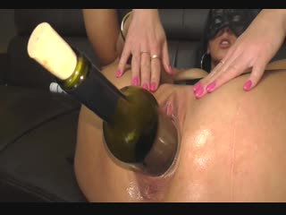 Huge wine bottle insertion [pov blowjob deepthroat hot wife strip cum anal plug suck skinny mother cock doggy threesome фистинг,