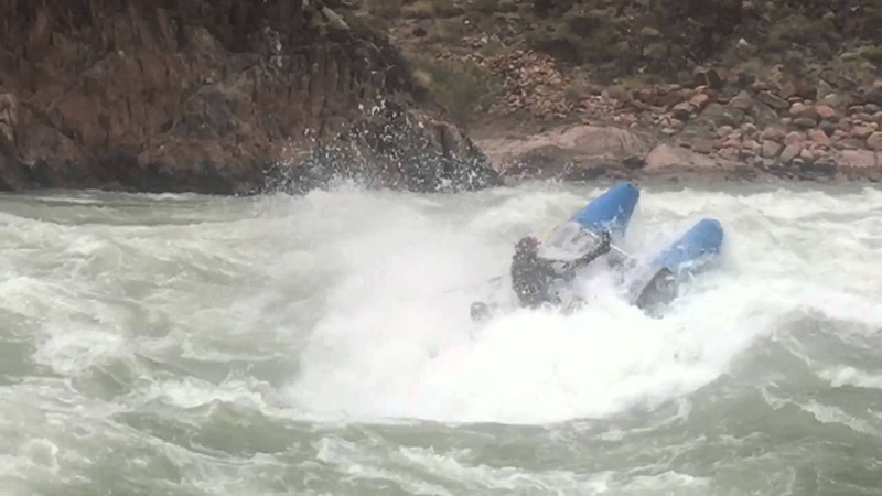 Flip in Crystal Rapid