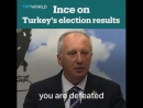 Erdogan's main rival in the presidential race, Muharrem Ince, speaks about Turkey's June 24 election results