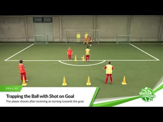 4 soccer drills - trap, control and shoot the ball _ finishing in soccer
