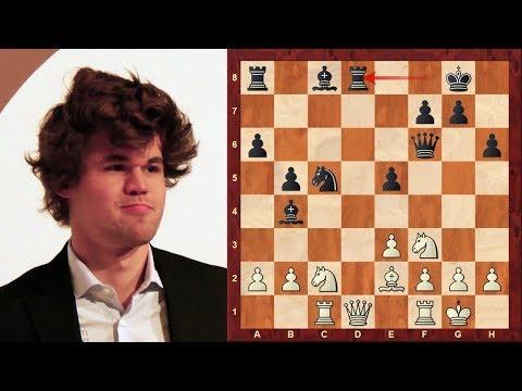 Aggressive Chess Fortress and positional Queen Sac! Magnus Carlsen vs David Navara - Biel 2018