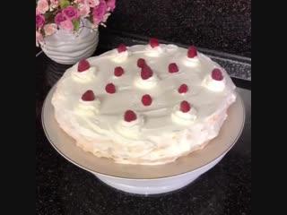 Меренговый торт 🎂 (ингредиенты указаны в описании видео)