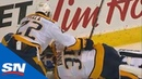 Pekka Rinne Exits The Game With Injury Shortly After Collision With Kevin Fiala