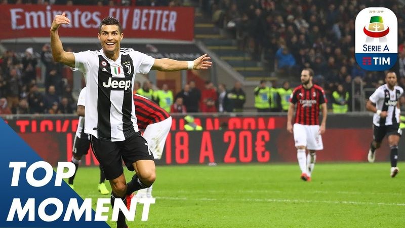 Ronaldo Gets 100th Goal by Juventus at the San Siro   Milan 0-2 Juventus   Top Moment   Serie A
