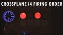 Audiovisual demonstration of crossplane 4 cylinder engine firing order Yamaha R1 2009