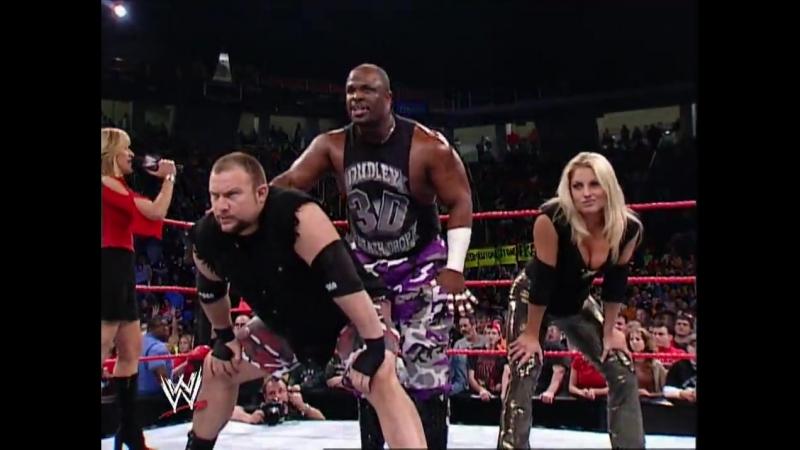 Dudley Boyz Trish Stratus Vs Chris Jericho, Christian Victoria - Table Match - RAW 09.12.2002