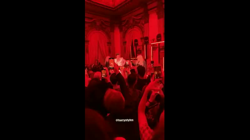 Harry performing Stop Draggin My Heart Around with Stevie Nicks at the Gucci Cruise 2020 show After Party - May 28 via moheli.mp