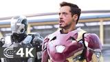 Team Captain America vs Team Iron Man (Part 1) Captain America Civil War (2016) IMAX 4K