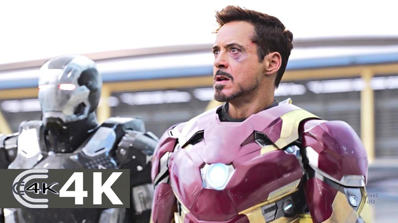 Team Captain America vs Team Iron Man (Part 1) | Captain America Civil War (2016) IMAX 4K