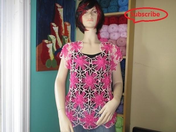 Crochet blusa de verano en horquilla parte 2 con Ruby Stedman