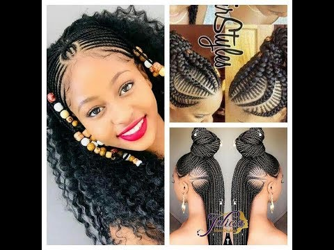 BRAIDED HAIRSTYLES 2018.LATEST BRAIDS STYLISHINGLY UNIQUE STYLES U MUST SEE