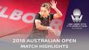 Ding Ning vs Liu Shiwen | 2018 Australian Open Highlights (Final)