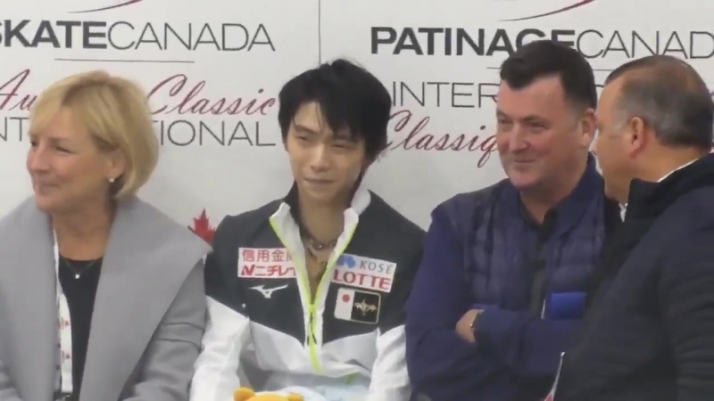 Yuzuru Hanyu KissCry after SP (ACI2018)