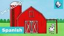 Old MacDonald Nursery Rhyme in Spanish Sing-Along Song | BASHO FRIENDS | En la granja de MacDonald